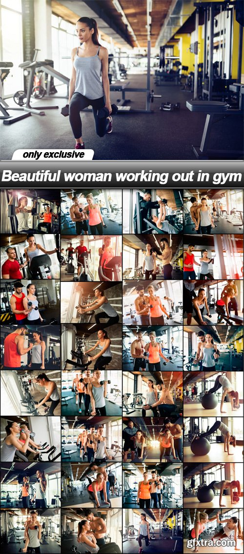 Beautiful woman working out in gym - 32 UHQ JPEG