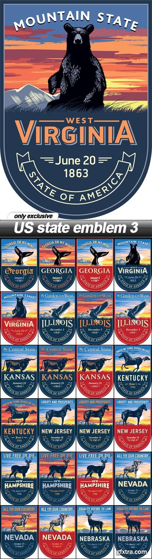 US state emblem 3 - 25 EPS