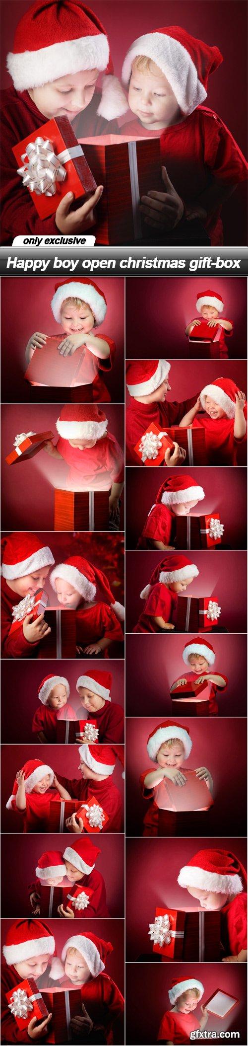 Happy boy open christmas gift-box - 15 UHQ JPEG
