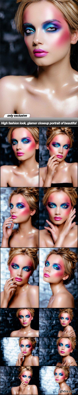 High fashion look, glamor closeup portrait of beautiful - 12 UHQ JPEG