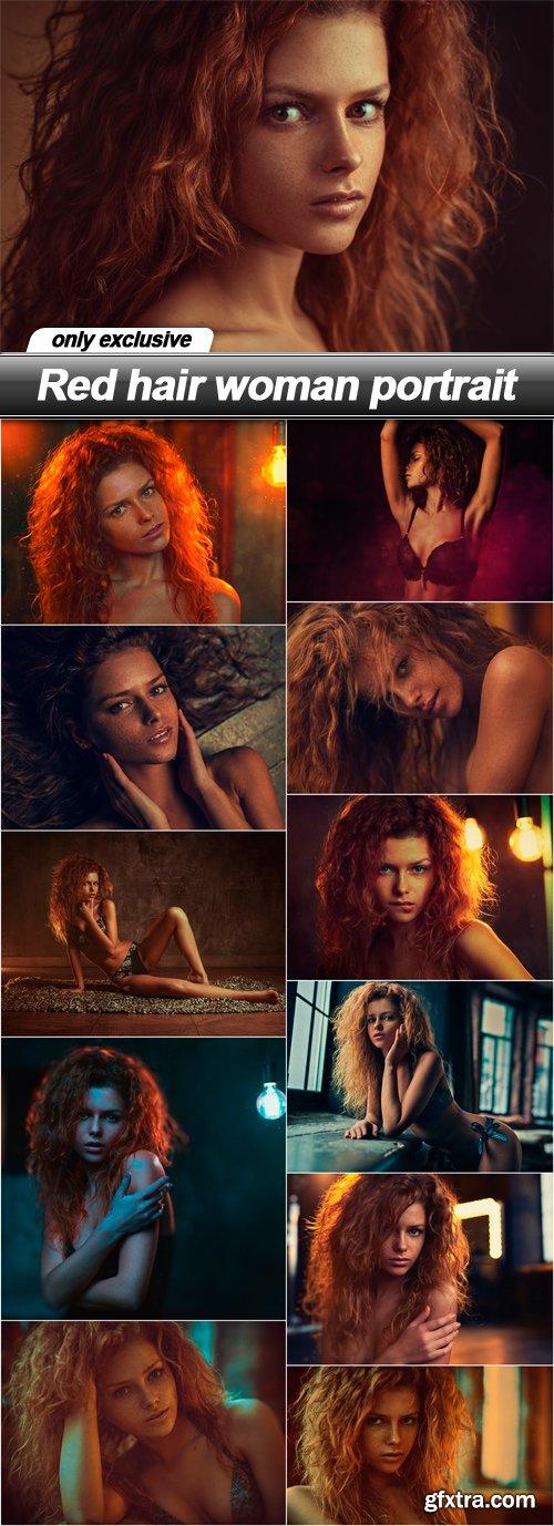 Red hair woman portrait - 12 UHQ JPEG