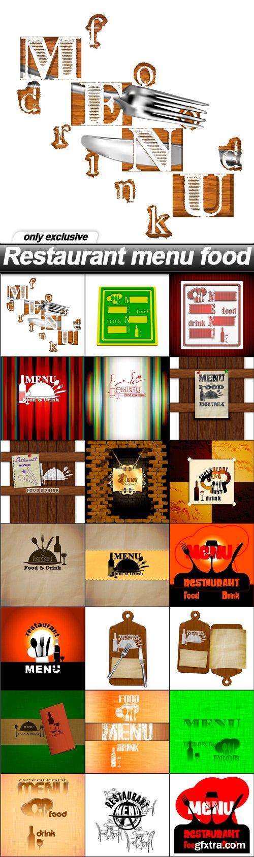 Restaurant menu food - 21 EPS