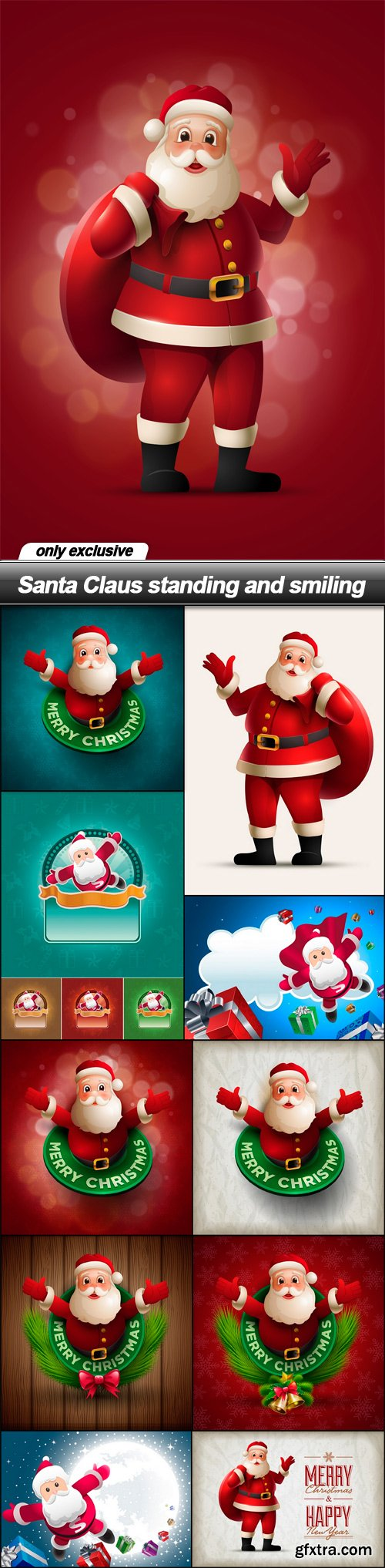 Santa Claus standing and smiling - 11 EPS