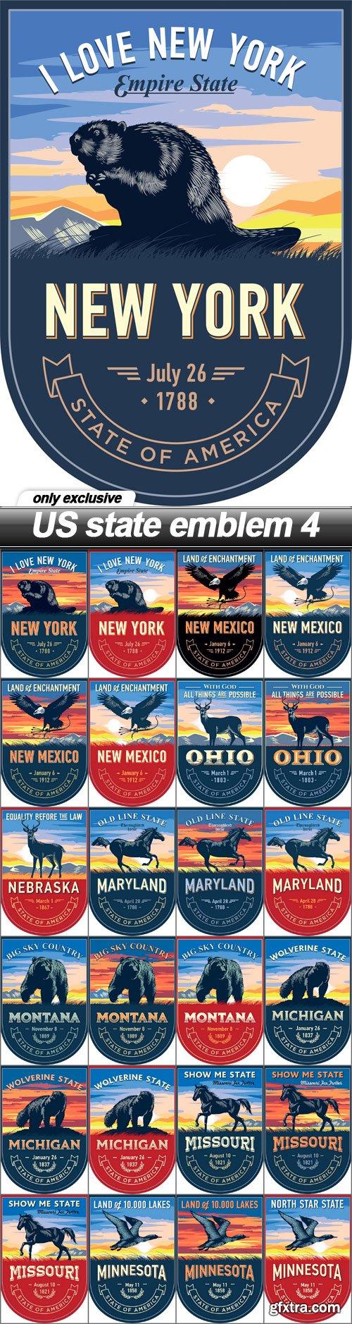 US state emblem 4 - 25 EPS