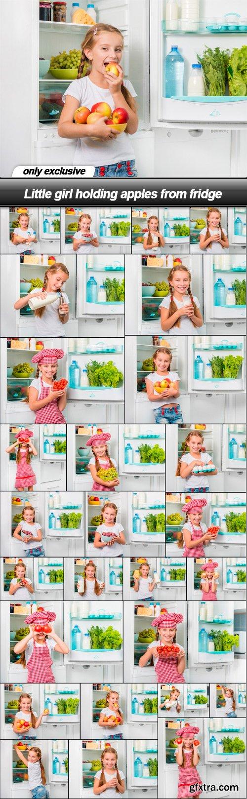 Little girl holding apples from fridge - 27 UHQ JPEG