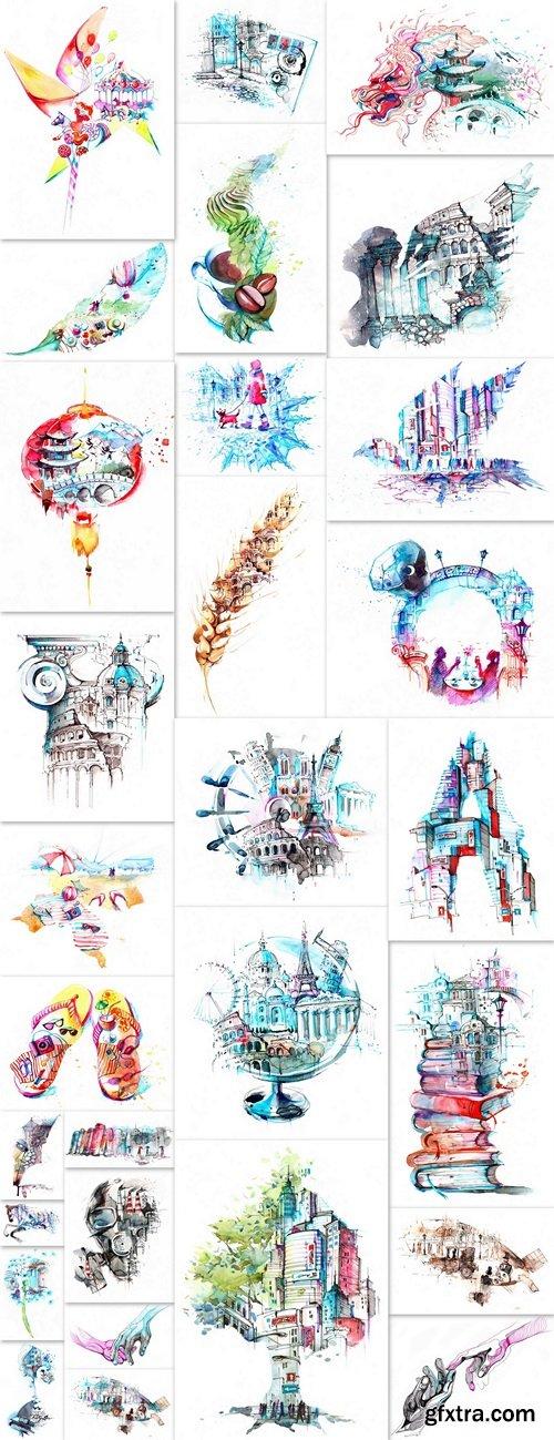 Illustrations mix