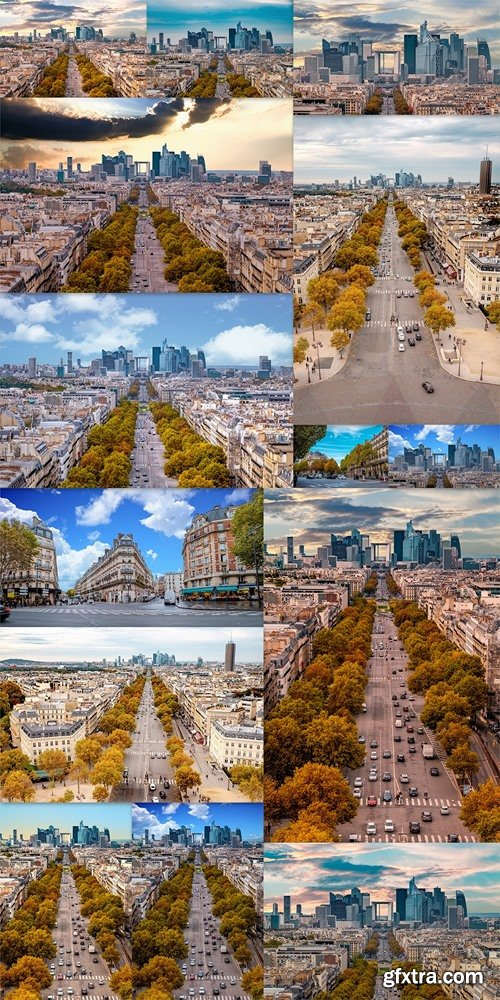 La Defense Financial District Paris France in autumn