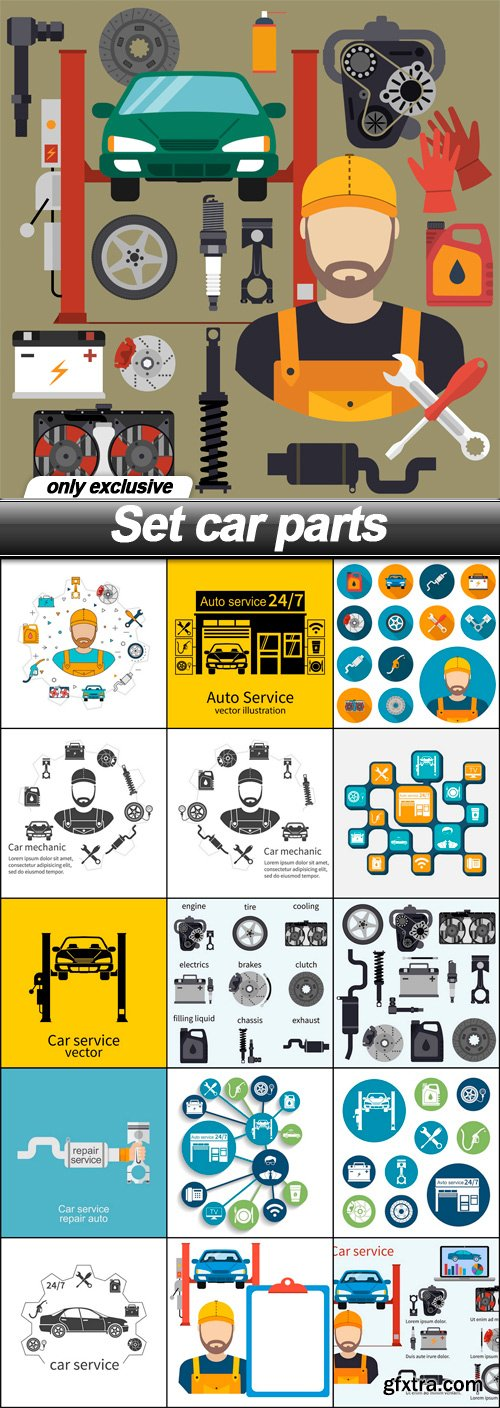 Set car parts - 16 EPS