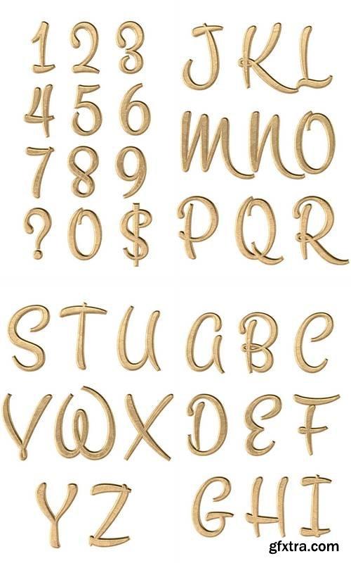 Metal Alphabet - 3D Rendering