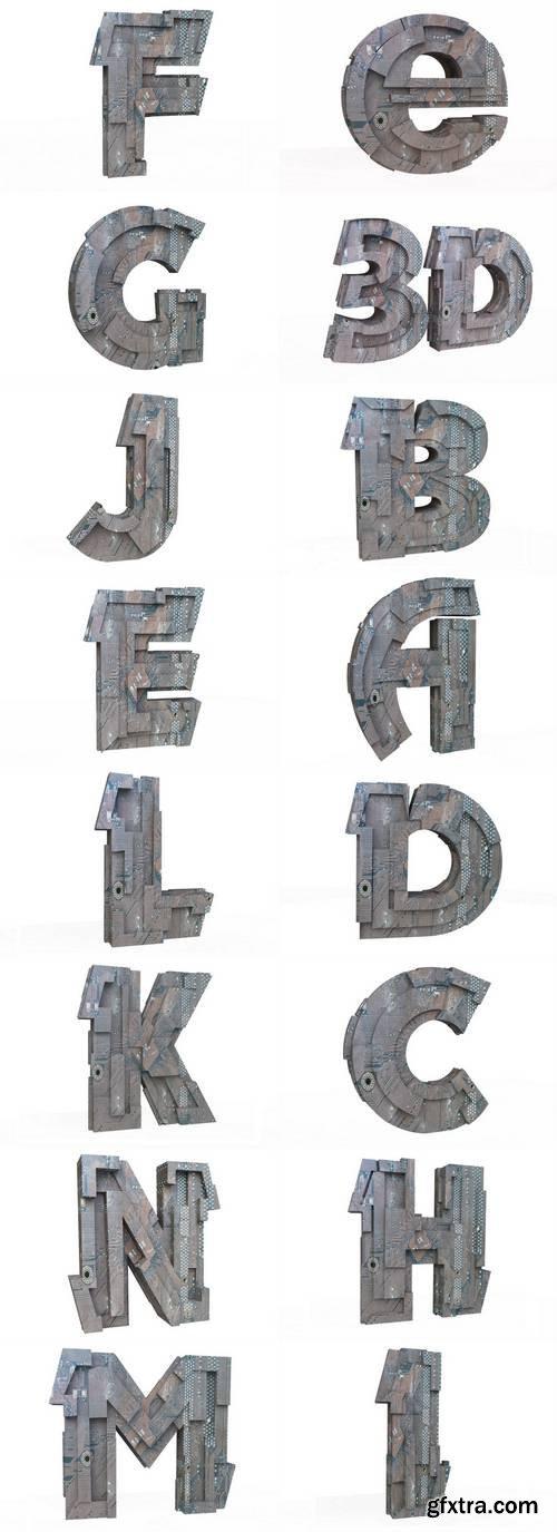 Hi-Tech Letters in 3D