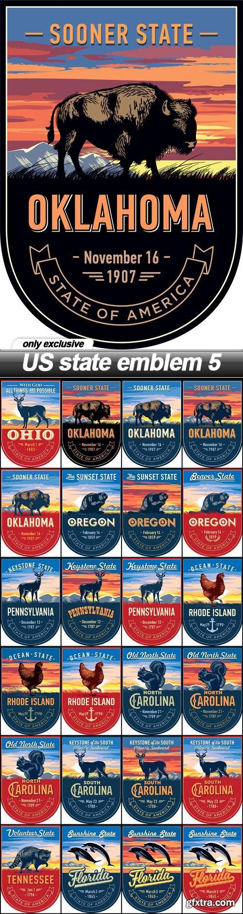 US state emblem 5 - 24 EPS