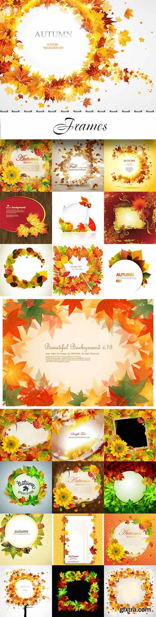 Autumn vector backgrounds collection - Frames