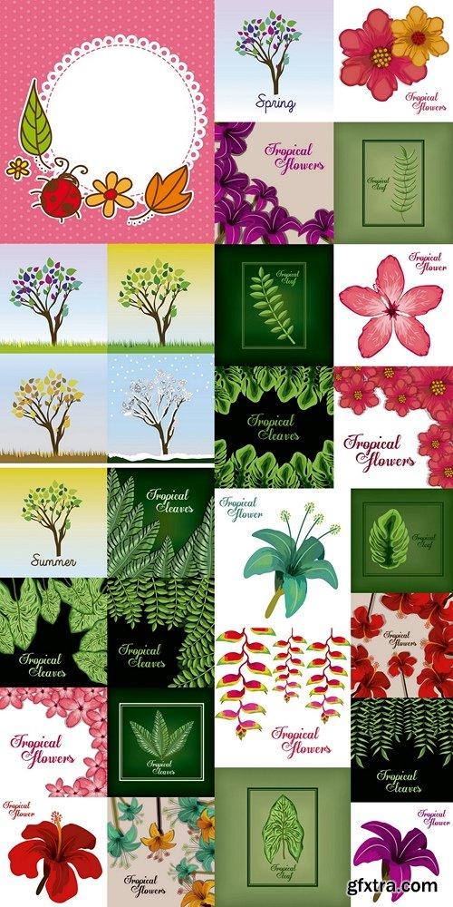 Flowers, plants, backgrounds, tropical plants part 2