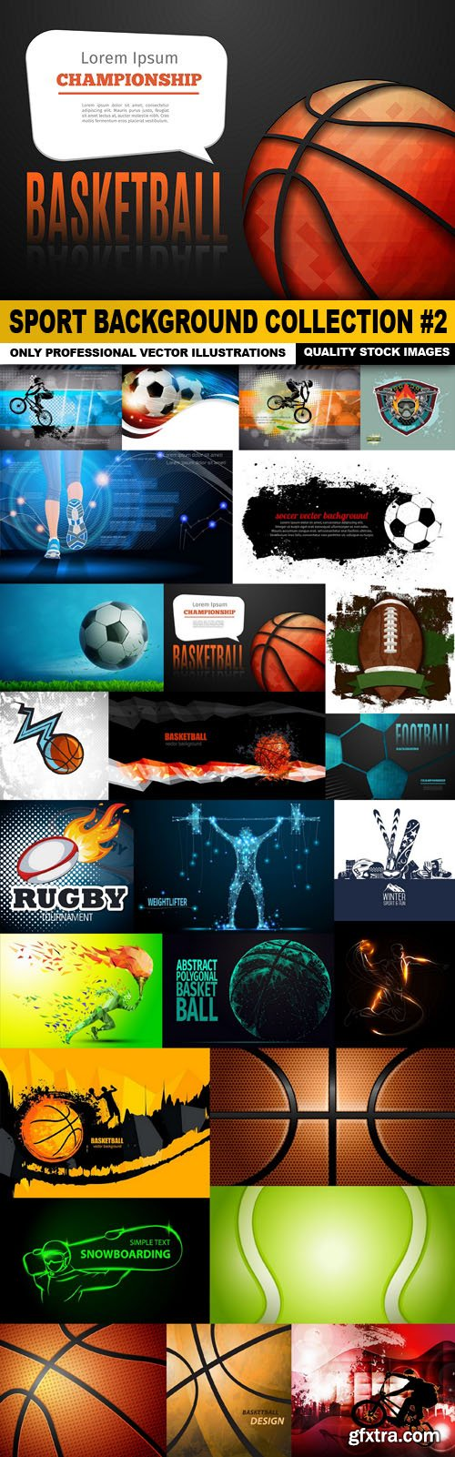Sport Background Collection #2 - 25 Vector