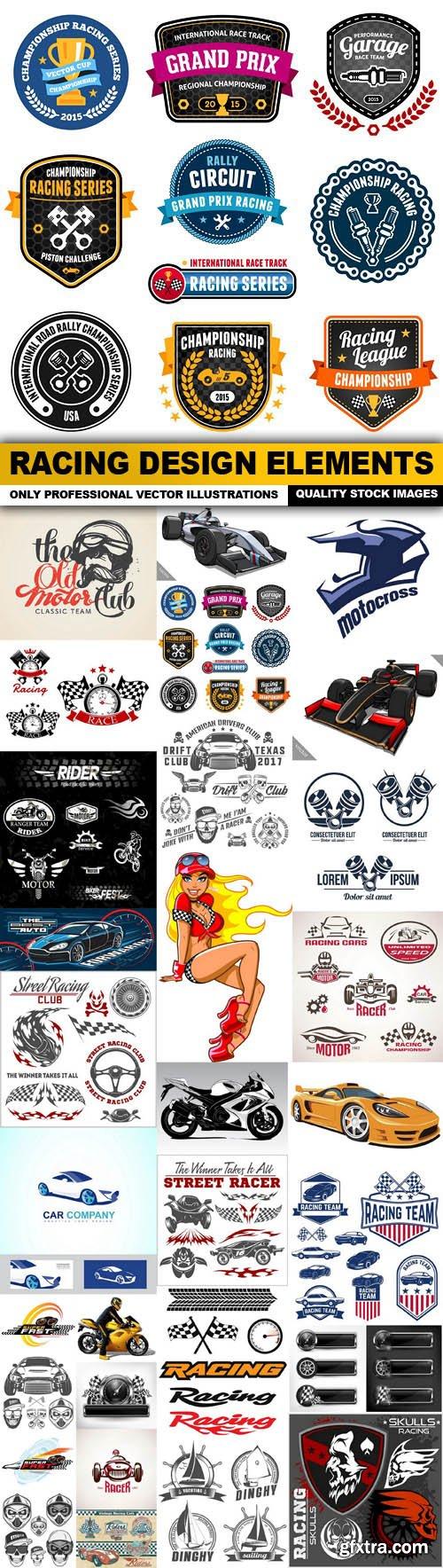 Racing Design Elements - 30 Vector