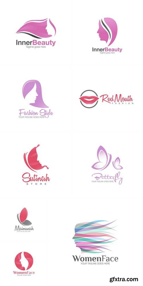 Beauty Woman Face Silhouette Logo Icon