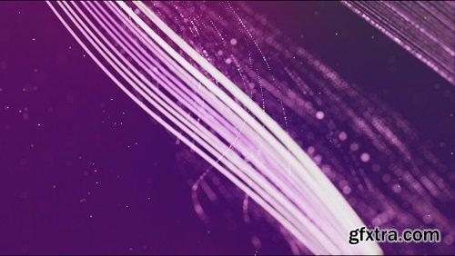 Light lines on a violet background