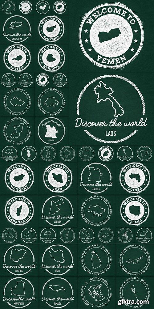 World map vector part 5