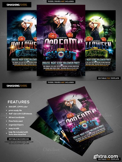 CM - Scream and Shout Halloween Flyer 956887