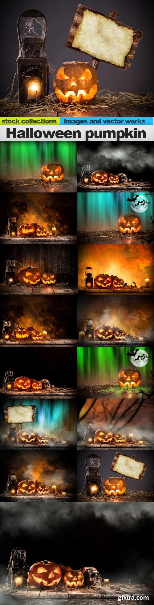Halloween pumpkin, 15 x UHQ JPEG
