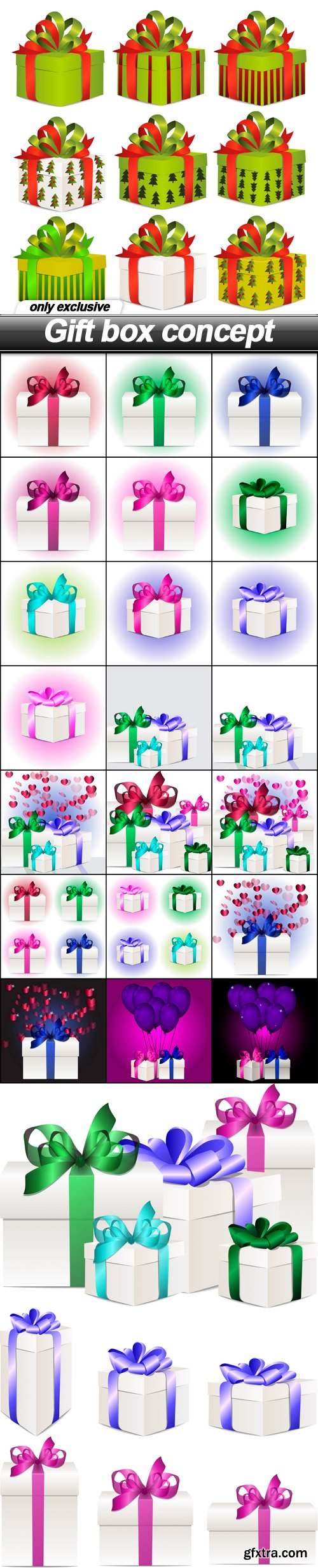 Gift box concept - 25 EPS