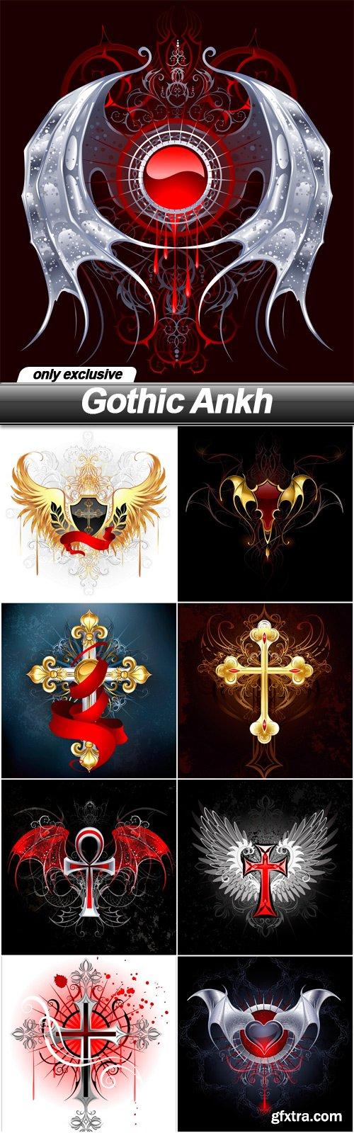 Gothic Ankh - 9 EPS