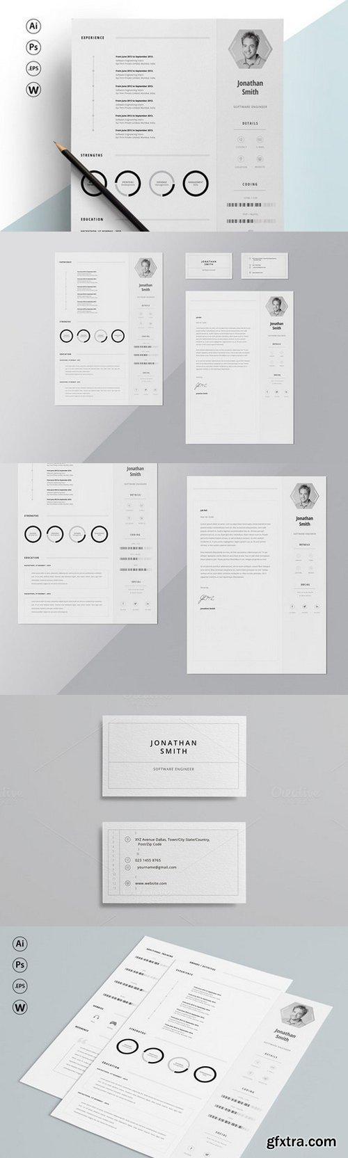 CM - ResumeCV - Elegance + Bcard 409367