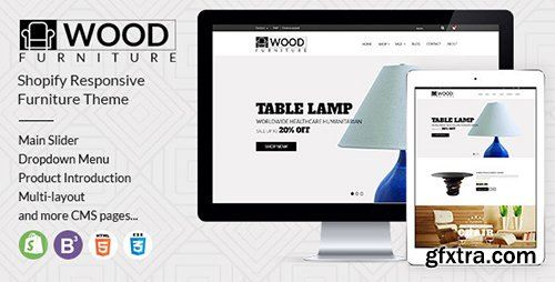 ThemeForest Parallax Shopify Theme - Wood Furniture Decoration 12770960
