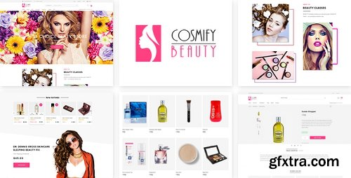 ThemeForest Cosmify - Fashion Cosmetic Shopify Theme 17564354