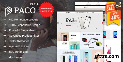 ThemeForest Paco - Responsive Multi-Purpose Magento 2 Theme 16569876