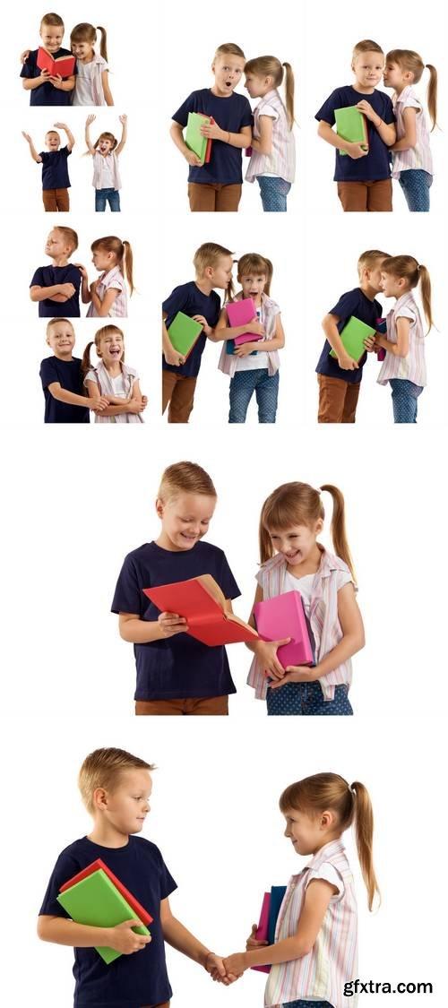 Schoolchildren - Boy and Girl