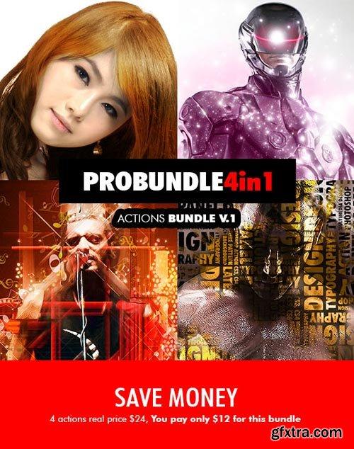 GraphicRiver - Pro Bundle - 4in1 Photoshop Actions Bundle V.1 - 18503121