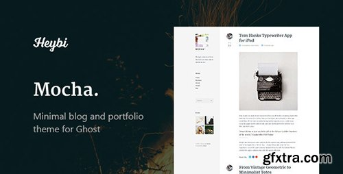 ThemeForest - Mocha v1.1 - Clean Blog & Portfolio Theme - 11454164