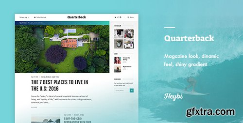 ThemeForest - Quarterback v1.0 - Responsive Magazine Theme - 18194111
