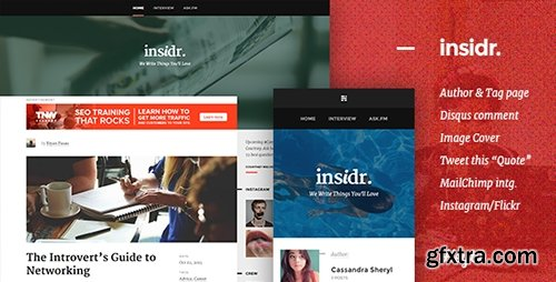 ThemeForest - Insidr v1.1 - Responsive Theme for Writer - 13186166