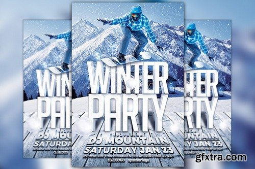 CM - Winter Party Flyer Template 977666
