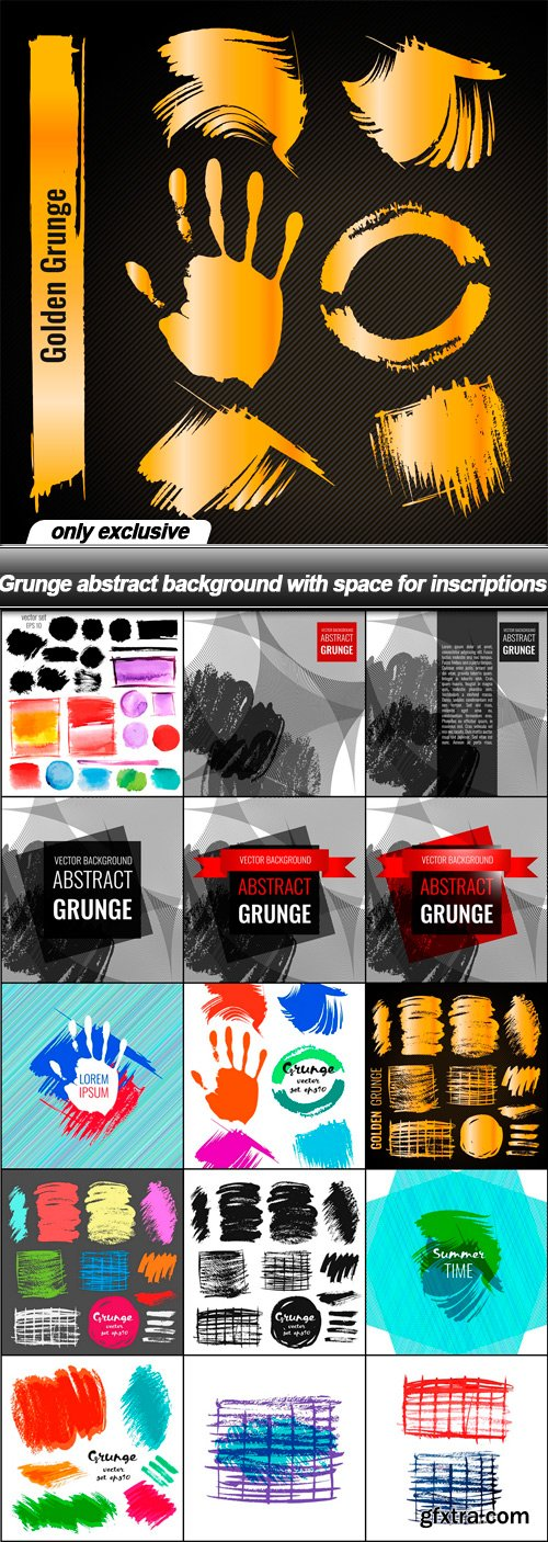 Grunge abstract background with space for inscriptions - 16 EPS