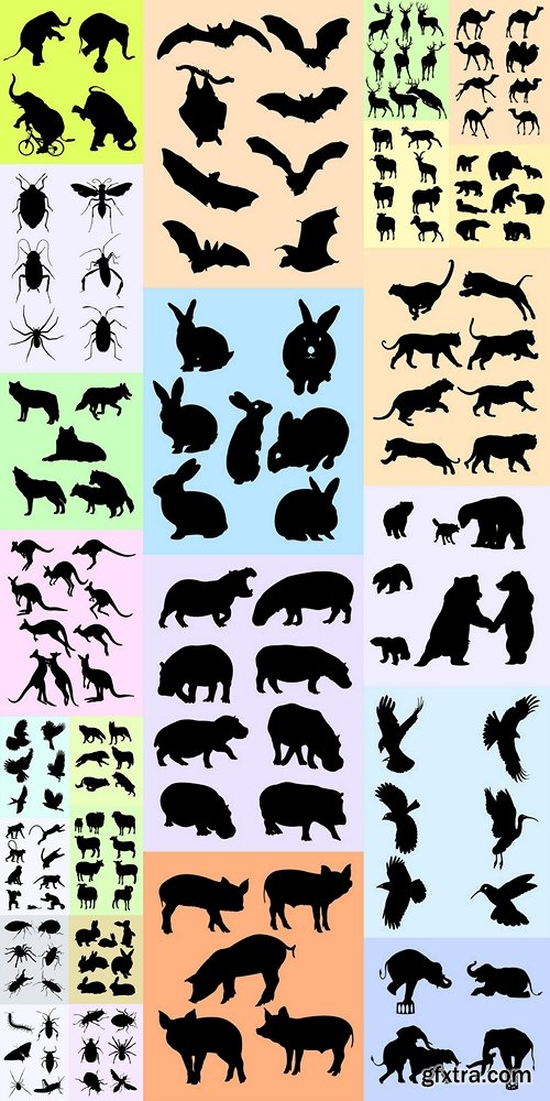 Animal silhouette, good use for symbol, logo, web icon, mascot, sign, or any design you want 2