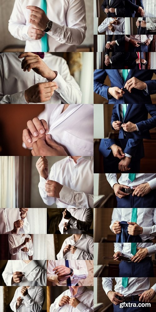 Businessman wears a jacket.Politician, man's style,male hands closeup