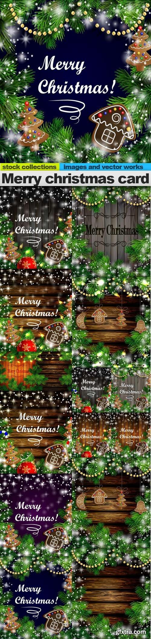 Merry christmas card, 15 x EPS