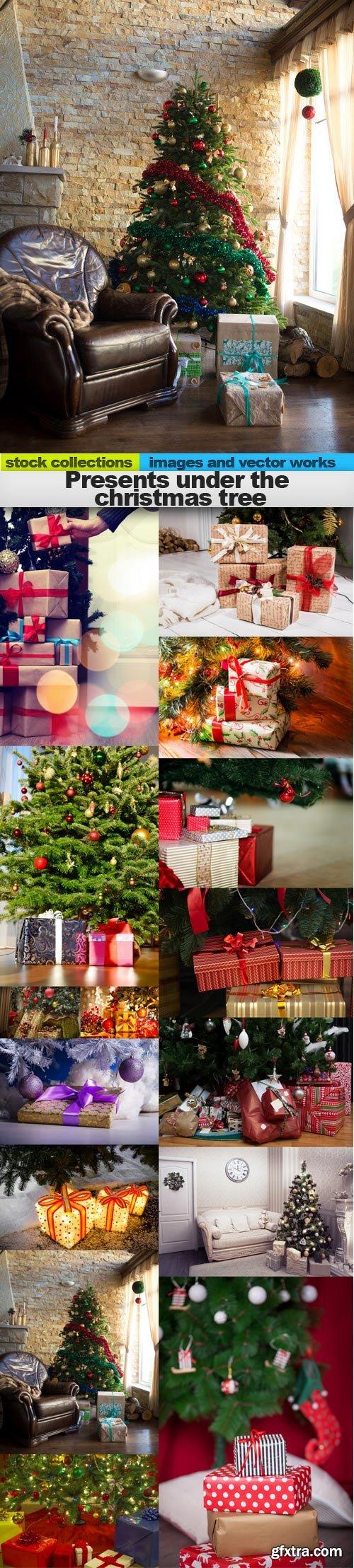 Presents under the christmas tree, 15 x UHQ JPEG