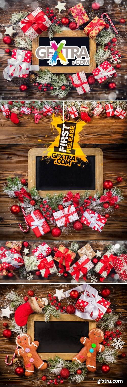 Stock Photo - Christmas Gift Boxes