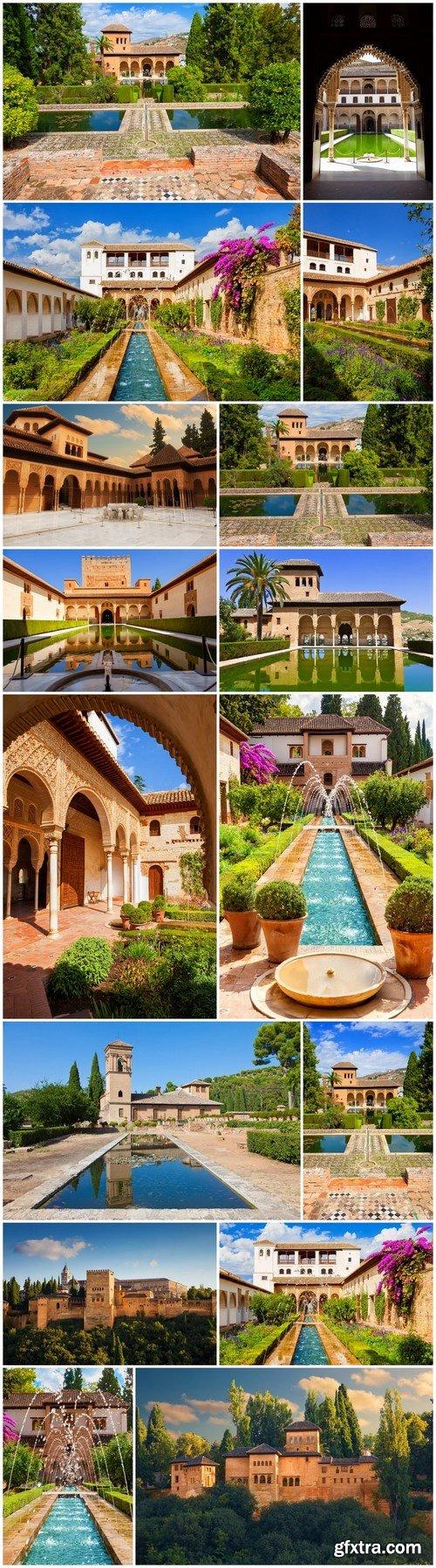 Beauty of Alhambra de Granada - 16xUHQ JPEG Photo Stock