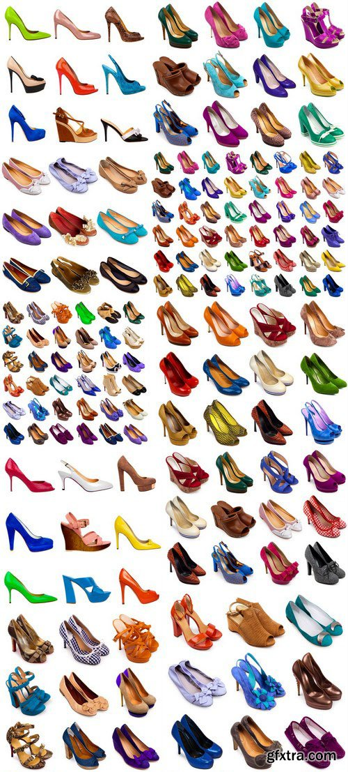 Female footwear collection - 22xUHQ JPEG Photo Stock