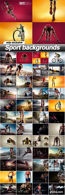 Sport backgrounds - 48 UHQ JPEG