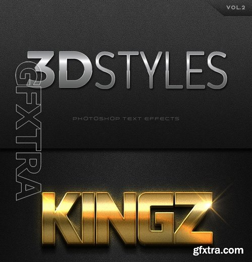 GraphicRiver - 3D Photoshop Text Effects Vol2 16546495