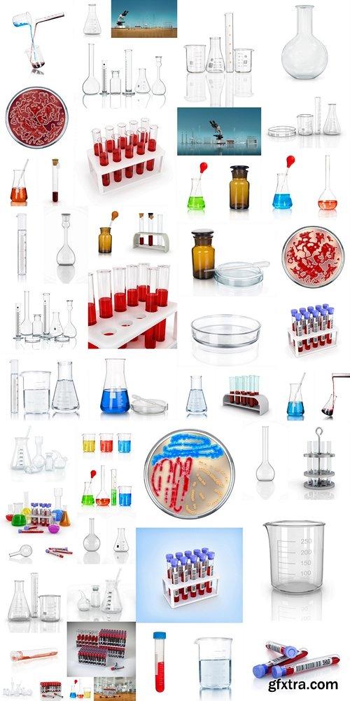 3D render, illustration.Medical test tubes with blood in holder