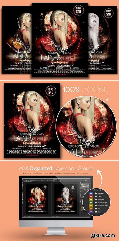 CM - NYE Ladies Night Flyer Template 941760