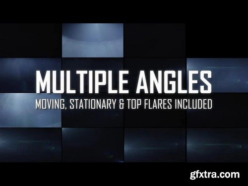 Anamorphic Lens Flare & Light Transitions Bundle V2 - Stock Video Footage