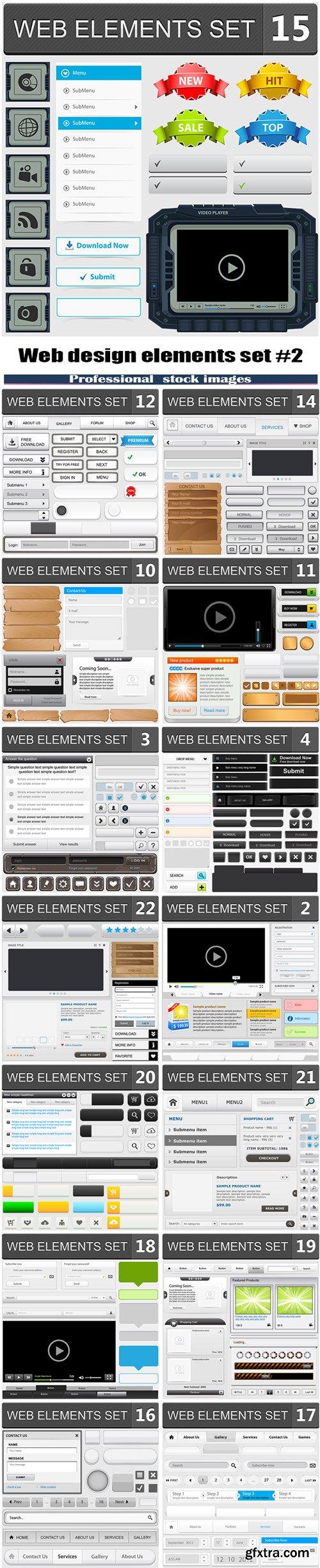 Web design elements set #2